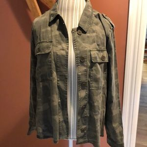 Lucky Brand Camo Shirt Jacket Sz XL